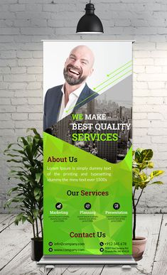 This is simple, eye catching & corporate Roll Up Banner used for any business Rollup Design, Rollup Banner Design, Tradeshow Banner Design, Banner Vertical, Creative Banners, Web Banners, Standing Banner Design, Company Banner, Magazine Ideas