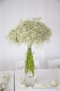 flowers white wedding baby breath photo