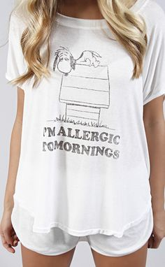 daydreamer: allergic to mornings pajama set