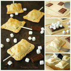 S'more Pie Pops. This is something I am down with...