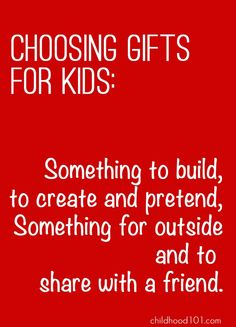 A great guide for choosing great toys for kids this Christmas