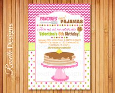 Pancake and Pajamas INVITATION  New Design  by RosetteDesigns, $8.25