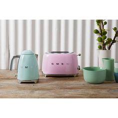 BuySmeg TSF01 2-Slice Toaster, Pink Online at johnlewis.com