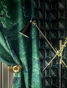 Modern House Design, Modern Interior Design, Green Curtains, Window Curtains, Green Home Decor, Made To Measure Curtains, Window Dressings, Green Rooms, Ceiling Decor