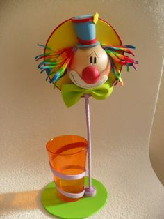 Manualidades Luna Clara: Payasos Foam Crafts, Diy And Crafts, Crafts For Kids, Arts And Crafts, Clown Party, Ideas Para Fiestas, Child Day, 4 Kids, Baby Birthday