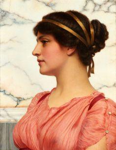 The Athenaeum - Roman Beauty (John William Godward - )