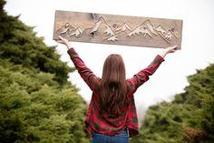 Nimm mich in der Berge-String-Kunst von FORTHELOVECO auf Etsy