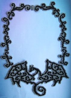 Great beaded necklace with dragon
