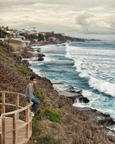 San Juan Puerto Rico, mirador cerca a la toma del viento, frente al capitolio