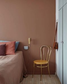 bold mix cushion colors - my scandinavian home: Before + After: A Dated Danish House Gets A Fabulous Make-Over Swedish Bedroom, Scandinavian Bedroom, Cozy Bedroom, Home Decor Bedroom, Living Room Decor, Danish Bedroom, Bedroom Green, Master Bedroom, Design Bedroom