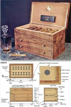 Cigar Humidor Plans - Woodworking Plans and Projects | WoodArchivist.com
