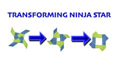 How To Make a Four-Pointed Transforming Ninja Star (INTERMEDIATE)