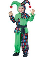 California Costumes Junior Jester Toddler Costume, Size A small jester who brings out big laughs. The Junior Jester toddler costume includes a shirt with attached belt detail, pants, and a jester hood headpiece. Shoes not included. Halloween Costumes Uk, Purim Costumes, Funny Costumes, Theme Halloween, Spirit Halloween, Baby Halloween, Royal Costumes, Costume Ideas, Dance Costumes