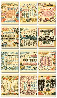 芹沢銈介 : 卓上カレンダー2013