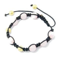 Adjustable Shambhala Solid Glass & Gold Spacers ~ Pink $6.00