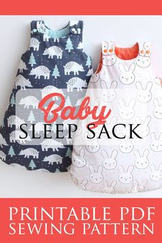 This diy baby sleep sack pattern is the most easy, cozy and safe sleeping bag for your children! This swaddle sack sewing pattern includes 6 sizes from newborn to 4 years and is fully lined. Sewing Baby Clothes, Baby Clothes Patterns, Bag Patterns To Sew, Baby Patterns, Toddler Sewing Patterns, Knitting Patterns, Baby Nest Pattern, Pattern Sewing, Baby Sewing Projects
