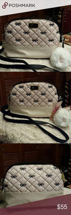 Betsy Johnson NWT Pink Bow Crossbody Bag Betsy Johnson NWT Pink Bow Crossbody Bag, Zippered Closure and Zippered pocket inside, cat tassel Betsy Johnson Bags Crossbody Bags