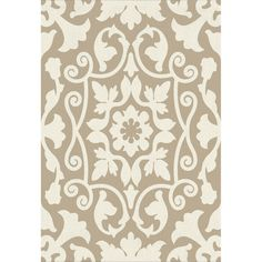 E147 Tan and Ivory Vertical Asulejo Rug- 3x5 ft.