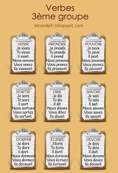 Learn French For Kids Free Printable Learn French Videos Notebook Key: 2588212148 French Verbs, French Grammar, French Phrases, Basic French Words, How To Speak French, Learn French, French Language Lessons, French Language Learning, French Lessons