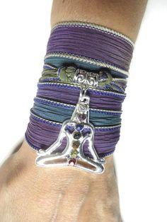 Meditated Silk Wrap BraceletChakra BraceletYoga by HVart on Etsy