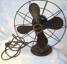 Westinghouse vintage fan, industrial fan, cardboard blades~~