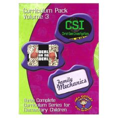 Curriculum Pack Vol. 3-CSI, Deal or No Deal, and Family Mechanics $49.50