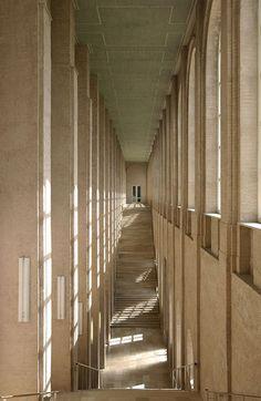 The new stairwell of the Alte Pinakothek by Hans Döllgast  http://www.pinakothek.de/en/node/578