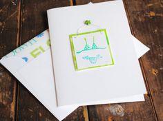 Bikini Folded Notecards Handmade Set of 6 by BeeInspiredHandmade