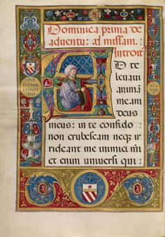 Initial A: King David, about 1520, Matteo da Milano. Tempera and gold on parchment.