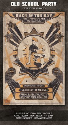 Old School Flyer/Poster #GraphicRiver This Flyer/Poster was created to promote a\
