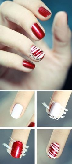 Candy Nails | 11 Holiday Nail Art Designs Too Pretty To Pass Up | Festive Nail Designs by Makeup Tutorials at http://makeuptutorials.com/holiday-nail-art-designs-that-are-too-pretty-to-pass-up/