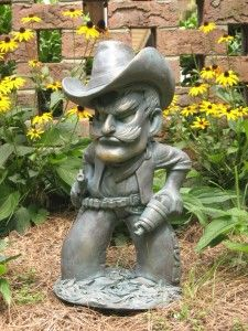 Oklahoma State Cowboys Garden Statue Pistol Pete gnome for @Lindsey Grande Savelsbergh