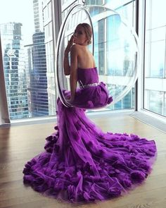 Pin by haz roses bridal boutique on wedding in 2019 Grad Dresses Long, Evening Dresses, Prom Dresses, Formal Dresses, Wedding Dresses, Purple Fashion, New York Fashion, Couture Fashion, Fashion Beauty