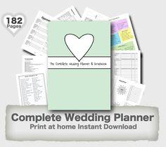 Wedding Planner Printable DIY Binder Folder