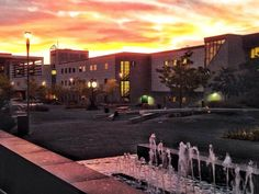 Dawn creeps over the Progress Campus quad on a beautiful autumn morning. Centennial College, Algonquin College, Autumn Morning, Applied Science, Quad, Ontario, Dawn, Mansions, House Styles