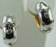 Hot Hoops 14k Two Tone Gold Diamond Hoops by EtsyJewelryStore, $920.00