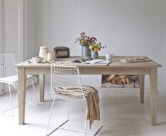 The Homer is a classic kitchen table. It has a lived-in feel and is finished in our gorgeous beached timber. Match it with any of our lovely kitchen...