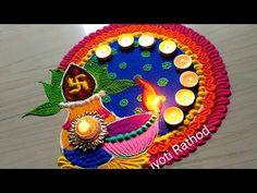 Rangoli for Diwali/lakshmi pada FESTIVAL'S rangoli designs Rangoli Art is the traditional art of India. It is believed that having Rangoli Design in front of your house brings good luck apart from home decoration pur. Rangoli Designs Latest, Simple Rangoli Designs Images, Rangoli Designs Flower, Rangoli Patterns, Colorful Rangoli Designs, Rangoli Ideas, Flower Rangoli, Beautiful Rangoli Designs, Easy Rangoli Designs Diwali