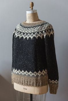Brendan pattern by Courtney Kelley Ravelry: St. Brendan pattern by Courtney Kelley Fair Isle Knitting Patterns, Sweater Knitting Patterns, Knit Patterns, Nordic Sweater, Icelandic Sweaters, Knit In The Round, Knit Crochet, Crochet Pattern, Free Pattern