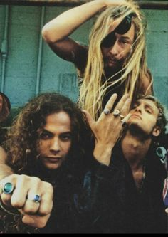 Mike Starr, Jerry Cantrell and Layne Staley