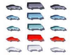 Autos Acrylglas, gelasert, 1:500