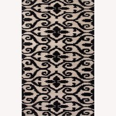 Hand-Tufted Floral Pattern Ivory/Grey Wool Rug (5'x8') | Overstock™ Shopping - Great Deals on JRCPL 5x8 - 6x9 Rugs