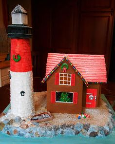 Baking Outside the Box: Gingerbread Lighthouse