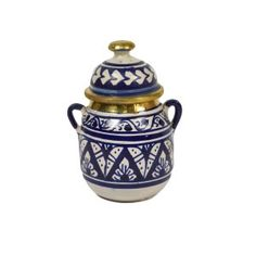 Moroccan Jar/Brass with Handle