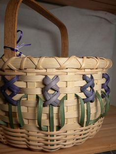 Handmade Hyacinth Basket by WeavingsByPat on Etsy, $44.00