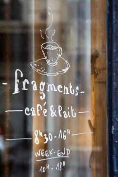fragments - paris - window decal