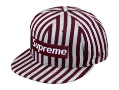 SUPREME x NEW ERA「Striped Box Logo」59Fifty Fitted Baseball Caps Preview