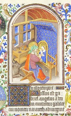 Medieval Manuscript Images, Pierpont Morgan Library, Book of hours (MS M.453). MS M.453 fol. 14v