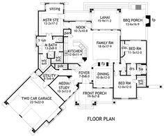Craftsman Tuscan House Plan 65862 Level One
