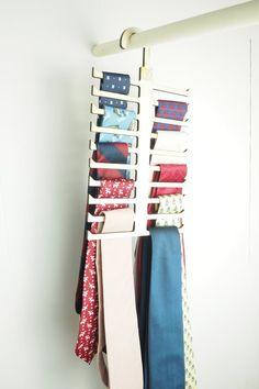 Tie Hanger, Laser Cut Wooden Tie Hanger, Neck Tie Organizer for your Closet, Monogrammed Tie Holder